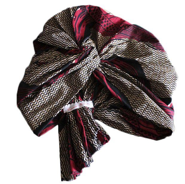 http://www.amamit.com Turbante de tela africana de la colección de Amamit verano 2014. Realizado por el Atelier Carmen Hernán, modelo exclusivo para Amamit #moda #sombrero #tocado #turbante #áfrica #Amamit