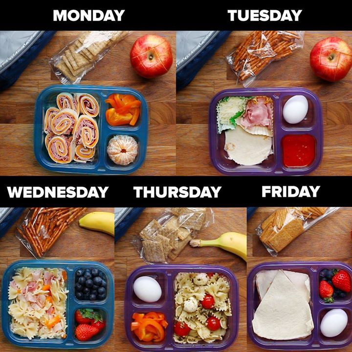 Good morning! (Via Tasty Junior)Easy School Lunch Prep for the Week  FULL RECIPE…