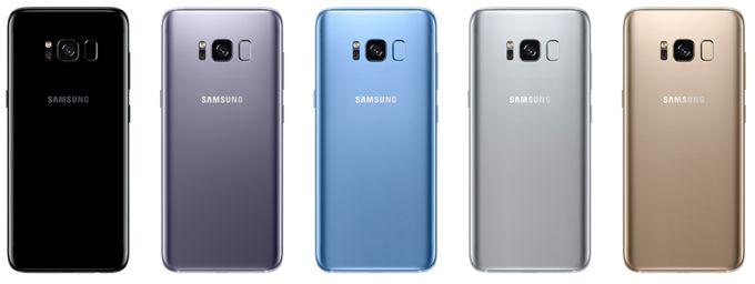 Galaxy S8 Colours