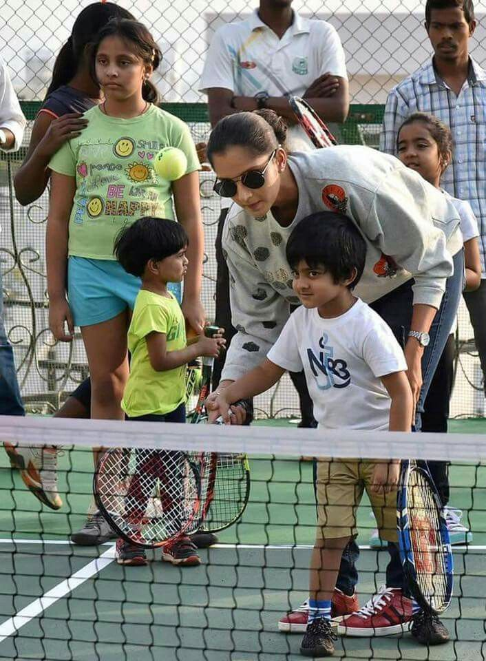 Grass root .. where it all begins  Happy to Launch our second Sania Mirza Tennis Academy for the young kids .. so come and fall in love with this beautiful game of tennis  #LoveyouMom