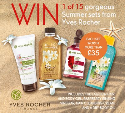 WIN a Summer beach kit for body & hair!! 1 of 15 gorgeous Monoi de Tahiti sets from Yves Rocher
