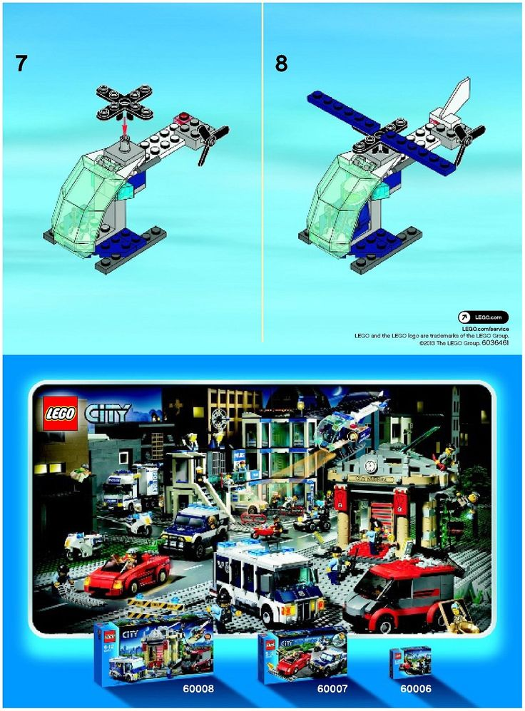 City - Police Helicopter [Lego 30222]