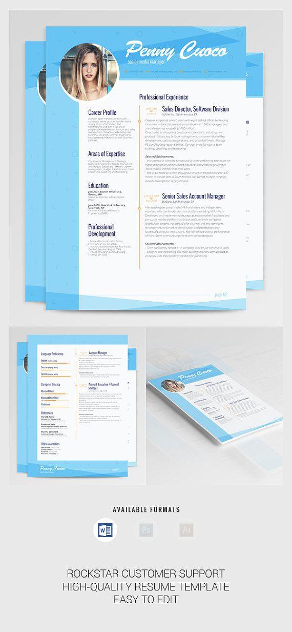 CV-sjabloon CV professionele CV-sjabloon Word door BeautifulResumes
