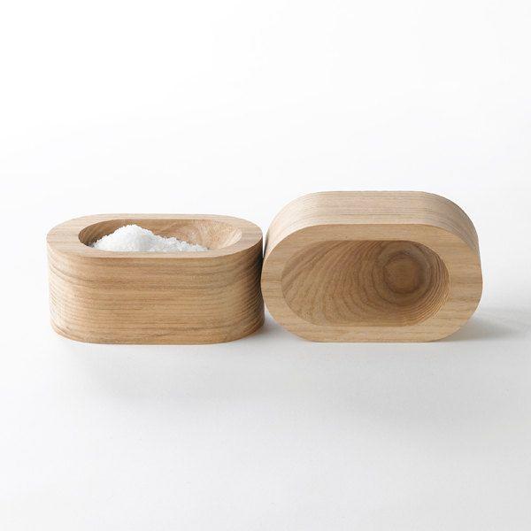 Grain Salt Cellar - a modern wood salt dish.