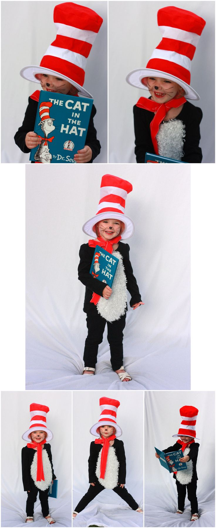 DIY Cat in the Hat Costume Book themed Halloween costumes are the cutest :)