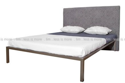 4B/EPOXY - A7. 4B/Epoxy - Husky gold bronze epoxy coated mild steel STD Queen bed frame and headboard ( Excluding mattress)