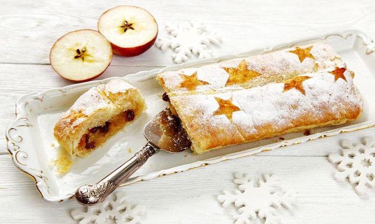 Vyzkoušejte báječný vánoční štrůdl podle tohoto receptu a provoňte svoji domácnost úžasnou vůní! Tesco Recepty - čerstvá inspirace na každý den.