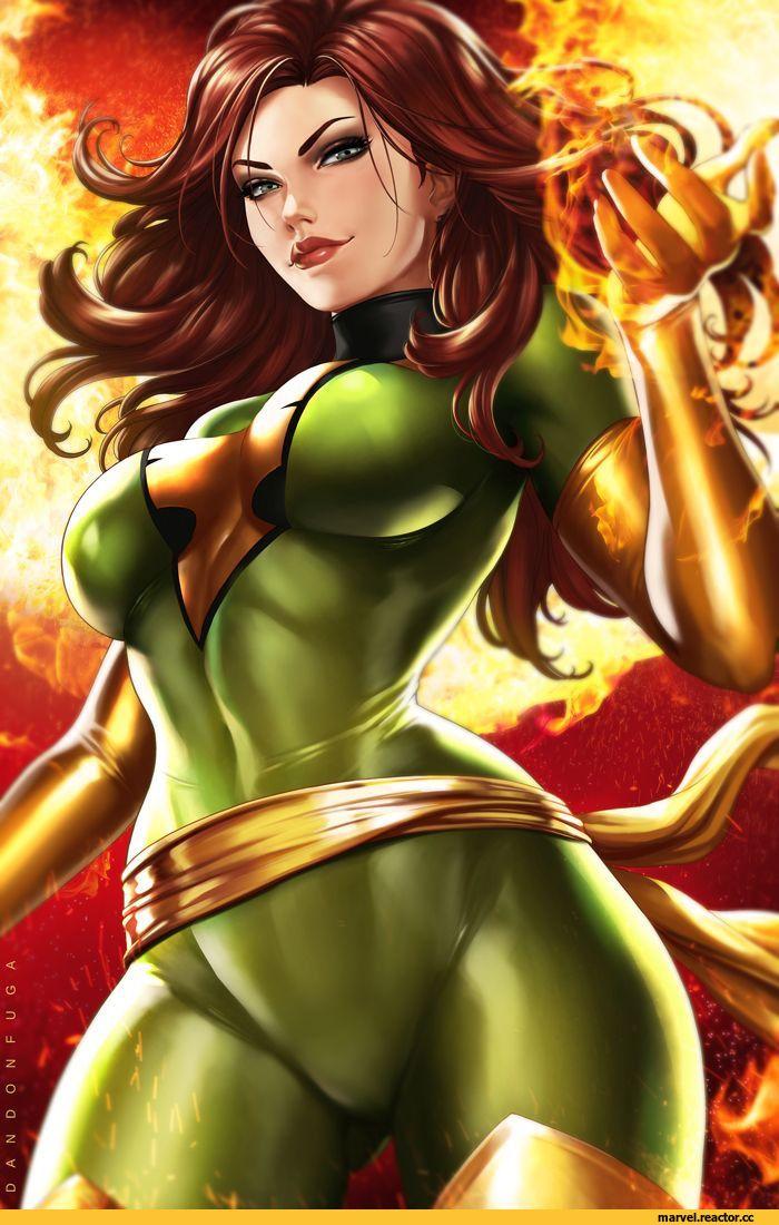Phoenix Marvel Феникс Jean Grey Чудо Девочка Джин Грей