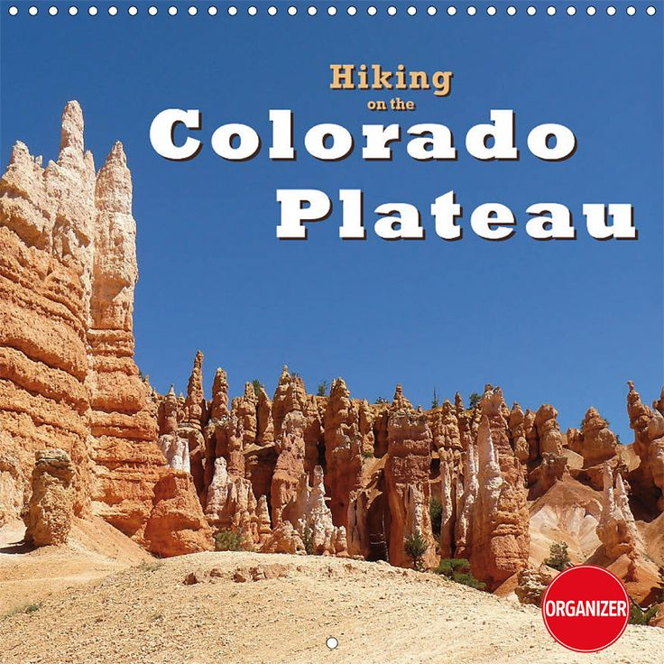 "Reisekalender mit Planer ""Hiking on the Colorado Plateau"", Cover"