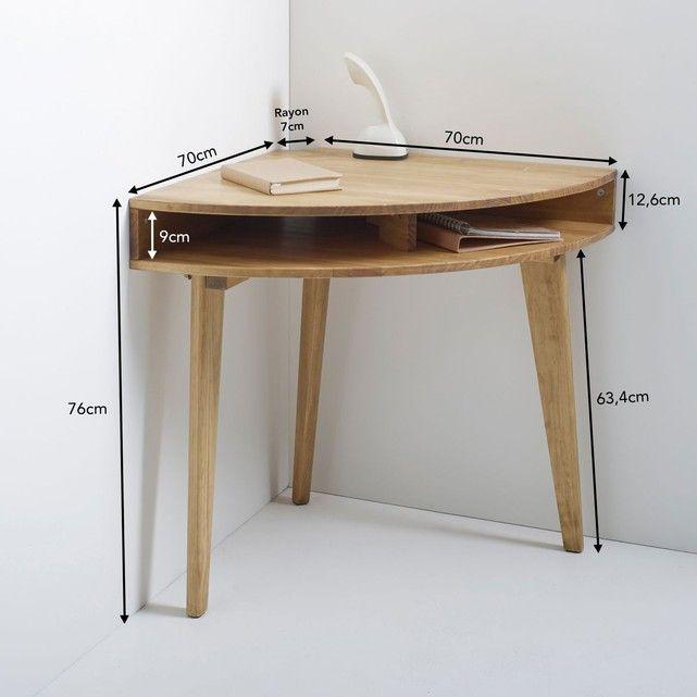 Bureau console d 39 angle grimsby la redoute interieurs la redoute mobile chambre loulou - Petit meuble en pin ...