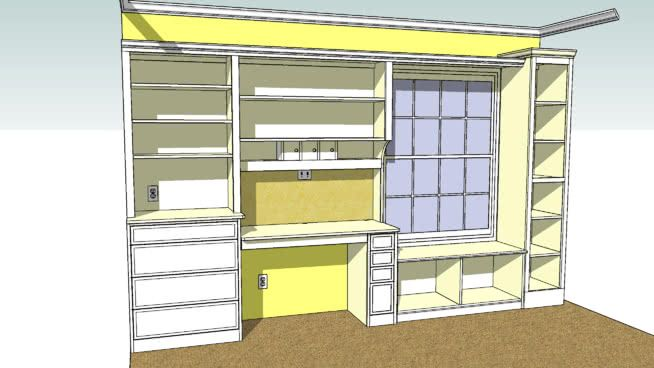 Complete And Accurate Drawing For A Bedroom Built In With A Desk Desk Drawers Dresser Drawers Shelve Bedroom Window Seat Bedroom Wall Closets Build A Closet