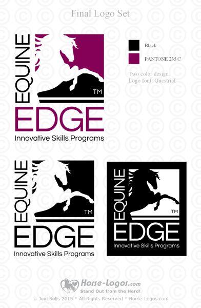 Equine Edge Horse Logo Design – ALove4Horses.com