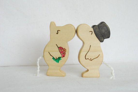 Kissing Wedding Moomins par mamakopp sur Etsy