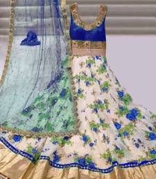 Buy multicolor embroidered net unstitched bridal-lehengas bridal-lehenga online