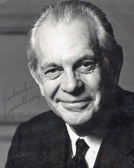 "Raymond Massey (1896 - 1983) He appeared in the movies ""Arsenic and Old Lace"" and ""East of Eden"" and in the TV series ""Dr. Kildare"""