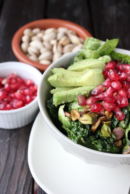 Brussels Sprout Cabbage Salad with Creamy Avocado Dressing