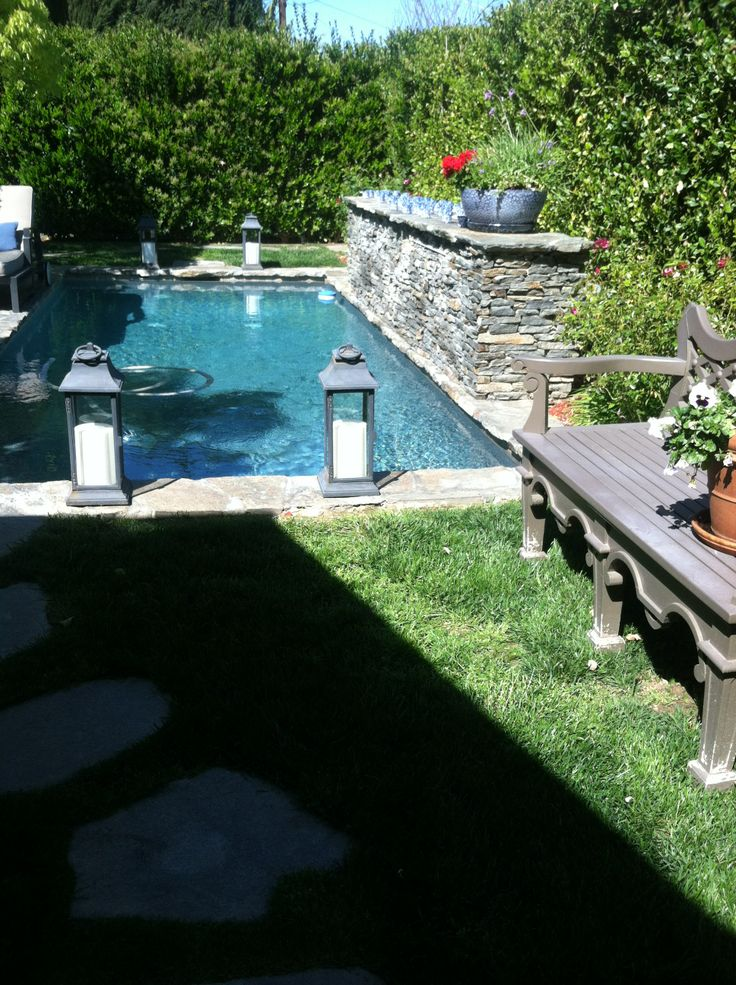 my beautiful pool so hard to keep the grass green with
