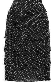 RochasFil coupé plissé-chiffon skirt
