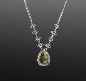 Serpentine Silver Necklace by Coco Paniora Salinas