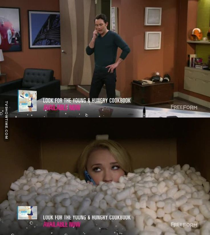 Josh: Where's my office chair? (Young & Hungry - 5x06)