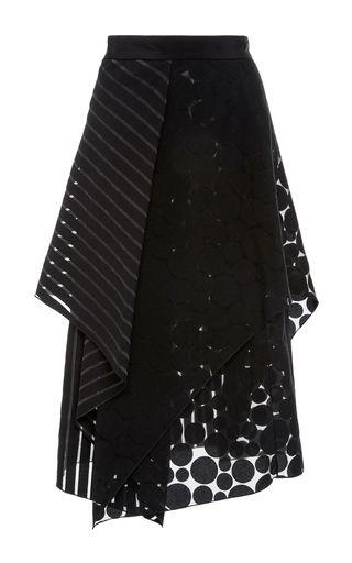 Medium diane von furstenberg black ruffled layered midi skirt