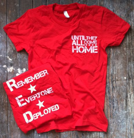 Red White Blue Apparel Co. - Women's Red Friday Until They All Come Home Patriotic Made In USA T Sh