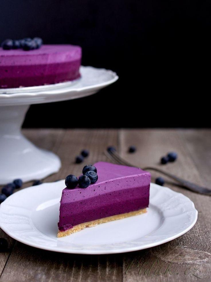 Obrázek z Recept - Ombre nepečený dort
