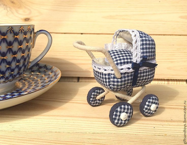 Купить Миниатюрная колясочка для кукольного дома - темно-синий, коляска для кукол, колясочка, аксессуары для кукол