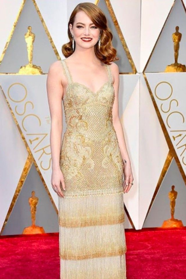Emma Stone wearing  Givenchy Embroidered Dress