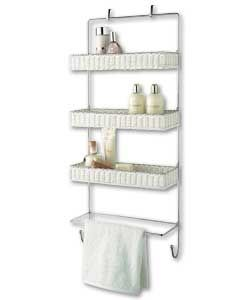 White Rattan Over Door Storage Tidy Bathroom Pinterest Doors And