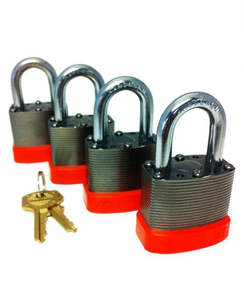 Peacemaker Safety series in black chrome.  Need your locks to stand out?  Polished black chrome Solidbody Tek lock body with OSHA safety orange bumper will do the job.  These locks come standard with all the Commando high security benefits.  www.commandolock.com