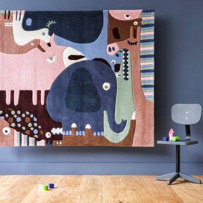 Animal Puzzle Carpet Multicoloured  Art For Kids