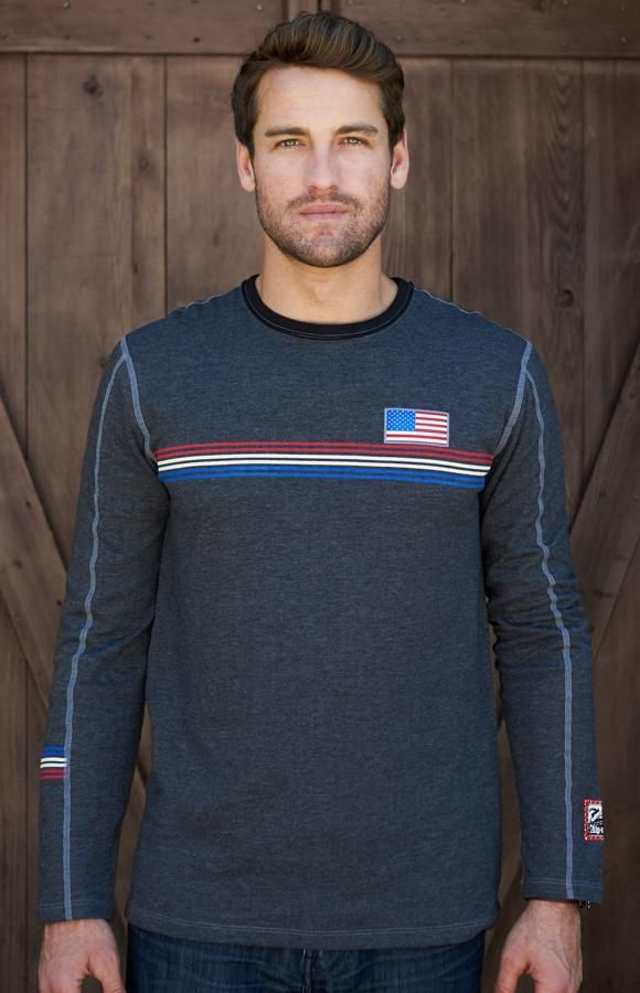 Team USA Men's Crew Shirt - Heather Black