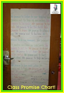 Kindergarten promise chart!  Great for behavior and community building!