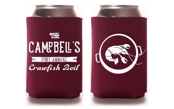 PaperLeigh Custom Party Koozie - Annual Crawfish Boil Party