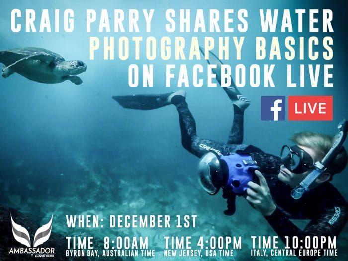 Underwater Photographer Craig Parry To Host Facebook Live Event https://www.deeperblue.com/go-live-interact-photographer-craig-barry-facebook (Underwater Imaging)
