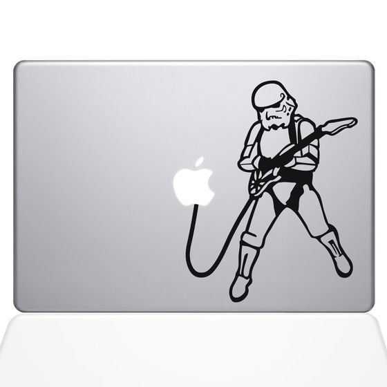 Find the rock n roll storm trooper macbook decal at the decal guru online store
