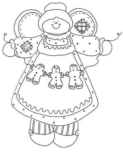 Angel Grandma w/ Gingerbread Chain