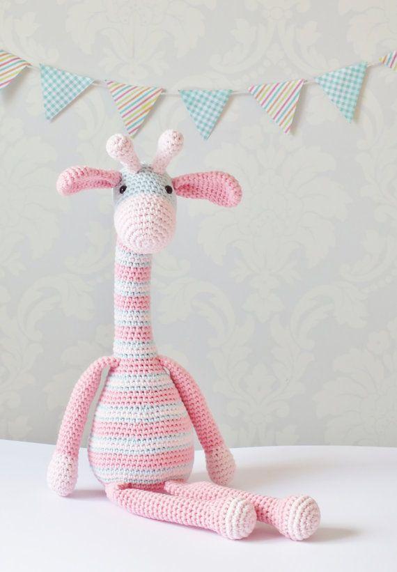 Patrón de ganchillo jirafa Amigurumi patrón por KornflakeStew