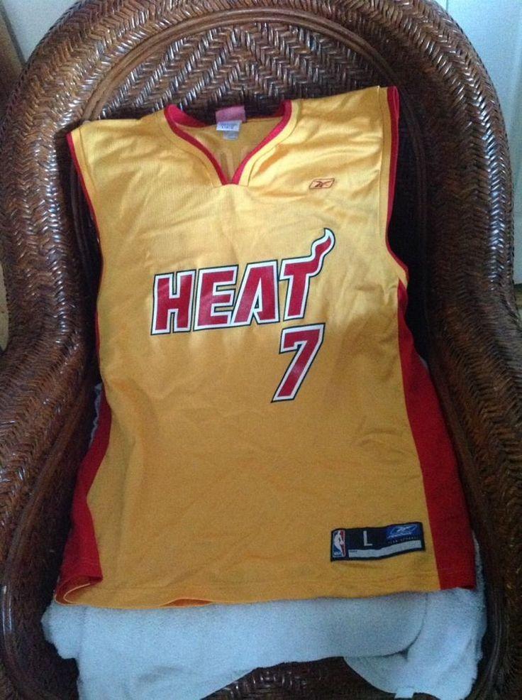 24ea55318b94 ... Vintage Miami Heat Lamar Odom 7 NBA Basketball reebok yellow Jersey Size  L Men in Sports ...