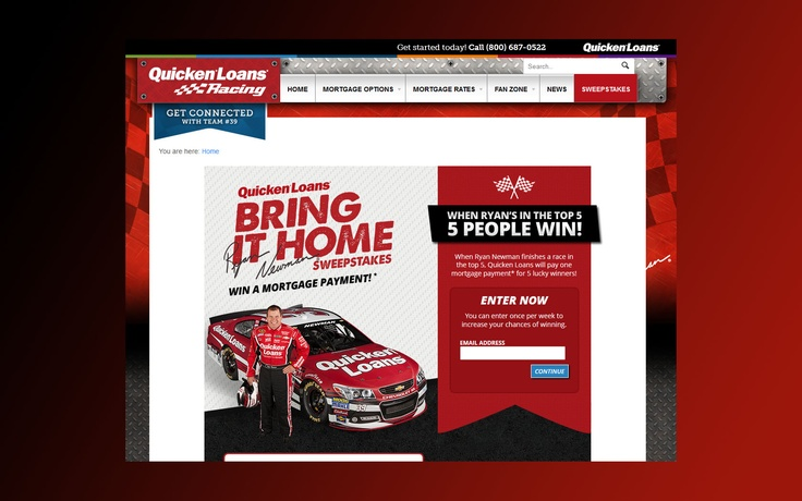 qlracing.com – Quicken Loans Bring It Home Sweepstakes