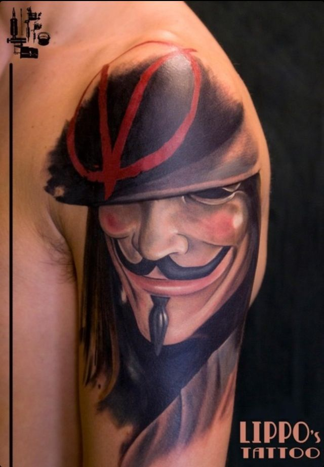 V for vendetta tatto