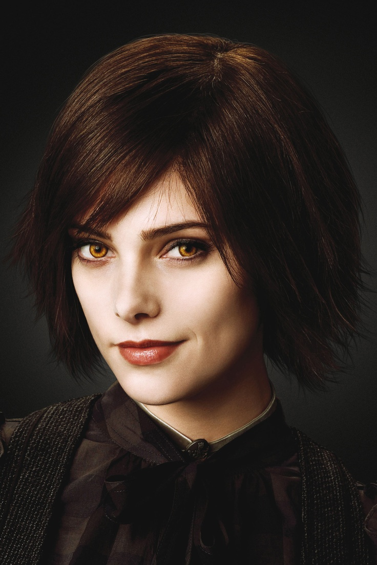"This is Ashley Greene, the actress who plays Alice Cullen in the Twilight franchise.  She has a ""Rachel"" look about her ...."