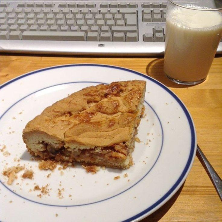 The Reading for life: pie and anime #vacation #vakantie #sugar #food #jaloers #apple #appel #appeltaart #taart #pie #applepie #milk #melk