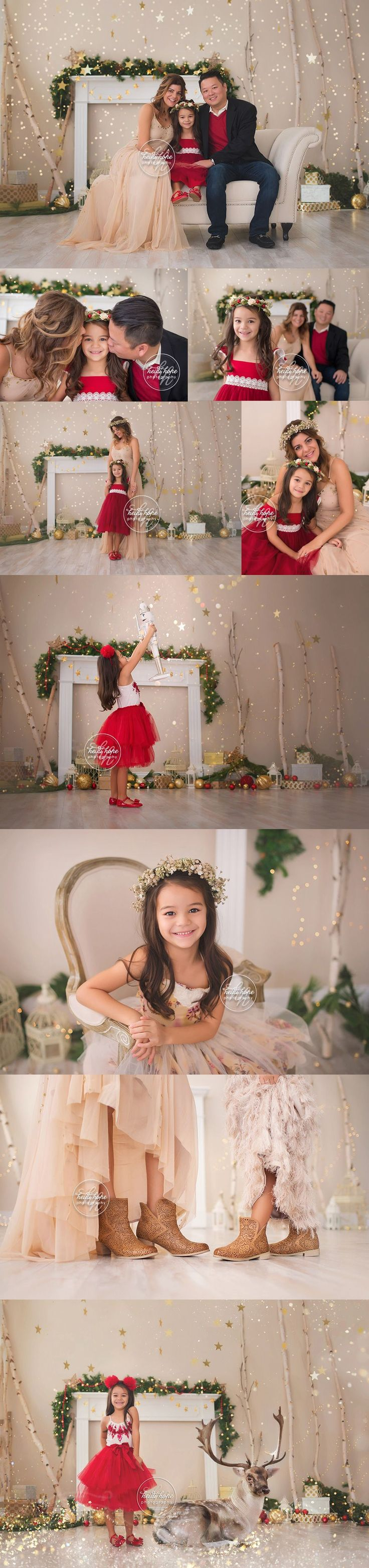 A sneak peek of the L family's magical Holiday portrait session! | Heidi Hope Photography  Studio portrait session Christmas 2016