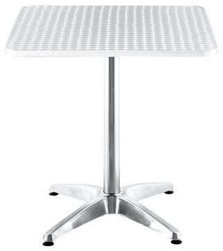Zuo Outdoor Christabel Square Aluminum Table - contemporary - Indoor Pub And Bistro Sets - Cymax