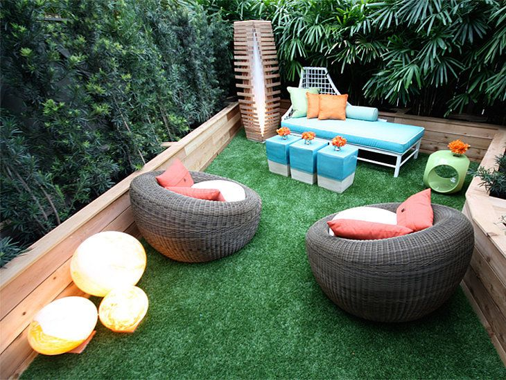 32 best cesped artificial terrazas images on pinterest - Terraza con cesped artificial ...