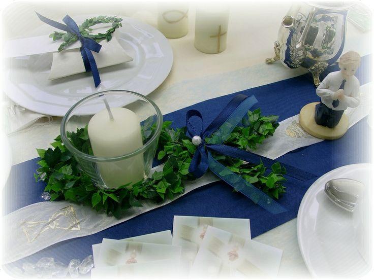 Ke42: Kerze Fisch Kommunion Konfirmation Taufe von zauberdeko auf DaWanda.com