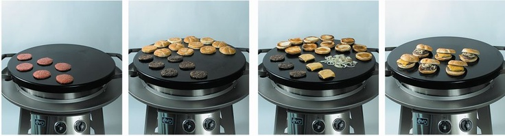 Grill on an Evo Circular Cooktop. | Grilling is done over a source of direct, dry heat. The process, known as the Maillard reaction, allows the carbonyl group of the sugars to interact with the amino group, resulting in desireable flavor compounds. Another popular aspect of grilling is the use of marinades, rubs, and seasonings to enhance the taste or create an ethnic flavor.