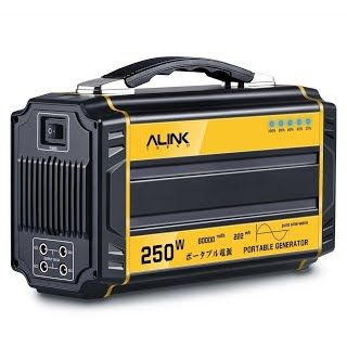 """""""Features & Benefits"""" AlinkTrend 250W Portable Generator- 60000mAh Pure Sine Wave Power Generator Emergency Generator Power Source for Power Outage, Outdoors, Camping, Beach, CPAP Machine"""
